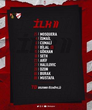 Boluspor'da İstanbulspor 11'i